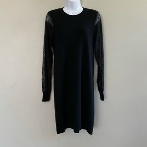 C by Bloomingdale's Lace Sleeve Cashmere Dress NWO